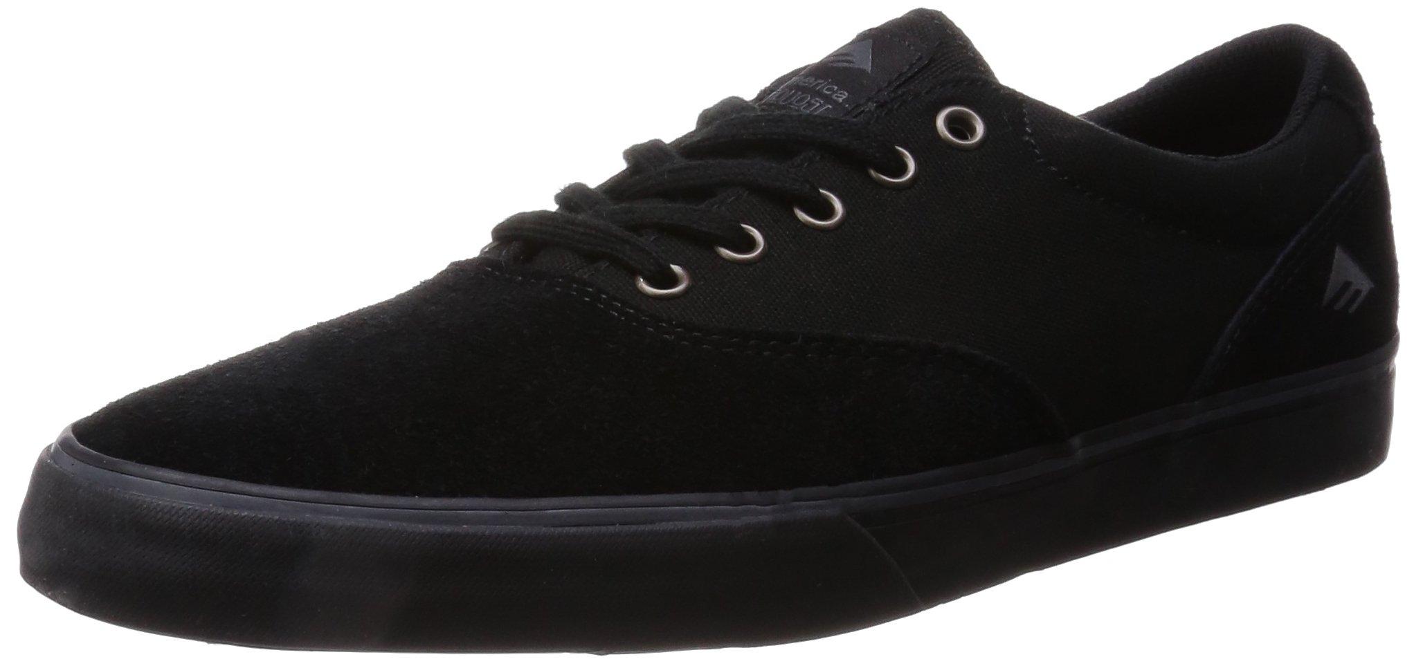 Emerica Provost Slim Vulc Skate Shoe,Black/Black,7