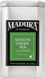 Madura Sencha Green 40 Leaf Infusers in Tea Caddy, 1 x 72 g