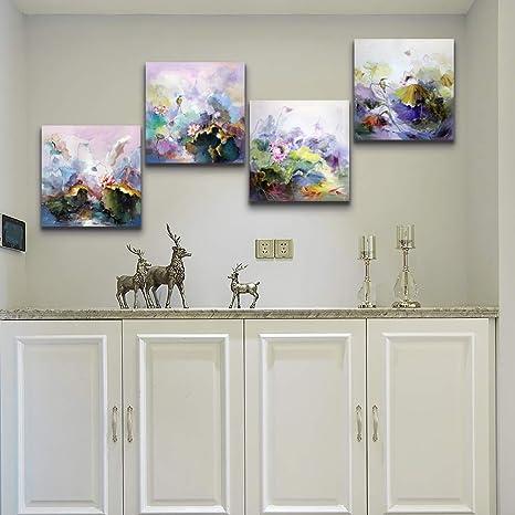 Pleasant Amazon Com Tthwallart 4 Abstract Wall Art Prints Artwork Home Interior And Landscaping Staixmapetitesourisinfo