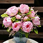 HILINGO-1-Bunch-Hight-Quality-Fake-Peony-Artificial-Flower-Bouquet-Home-Office-Decor-Without-Vase-Dark-Pink