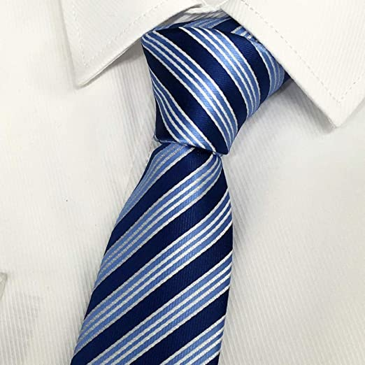 YiCan Ropa Formal For Hombres Corbata/Camisa Azul Juvenil Rayas ...