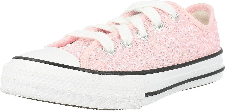 Alegrarse Fuera de borda Patético  Amazon.com | Converse Chuck Taylor All Star Ox Daisy Crochet Arctic Pink/ White Polyester Junior Trainers Shoes | Shoes