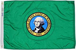 product image for Annin Flagmakers Model 145760 Washington State Flag 3x5 ft. Nylon SolarGuard Nyl-Glo 100% Made in USA to Official State Design Specifications. Model 145760