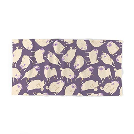 Donola - Toalla de baño con Estampado de Tazas púrpuras (31,5 x 51