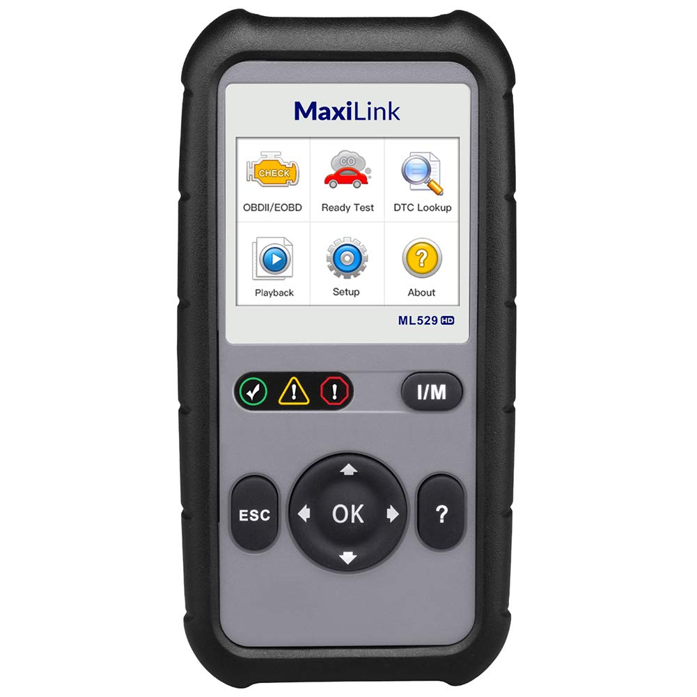 Autel MaxiLink ML529HD OBD2 Scan Tool Upgraded ML519 with Enhanced Mode 6//One-Key Ready Test for Heavy-Duty J1939 /& J1708 with AutoVIN//Internet Updatable//Print Data