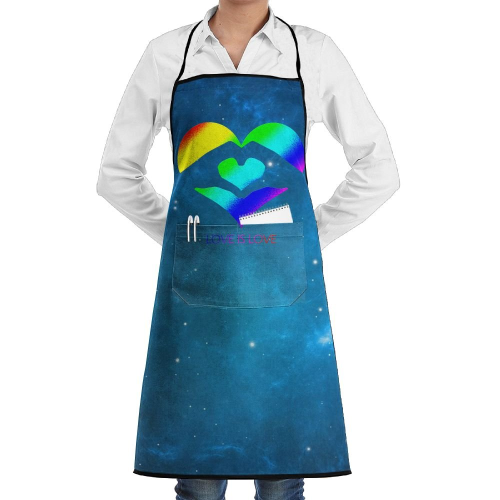 Love Is LOVE LGBT Cooking Kitchen Aprons With Pockets Bib Apron For Cooking, Baking, Crafting, Gardening, BBQ