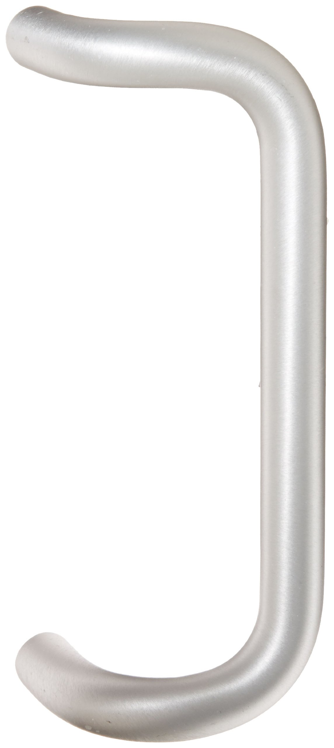 Rockwood BF157.28 Aluminum 90-Degree Offset Door Pull, 1'' Diameter x 10'' Center-to-Center, Through Bolt Mounting for 1-3/4'' Door, Clear Anodized Finish