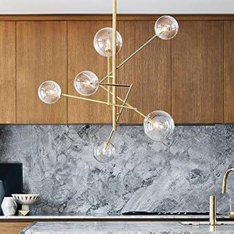 Moderne Pendelleuchten Glaskugel Deckenleuchte für Wohnzimmer Kugel ...