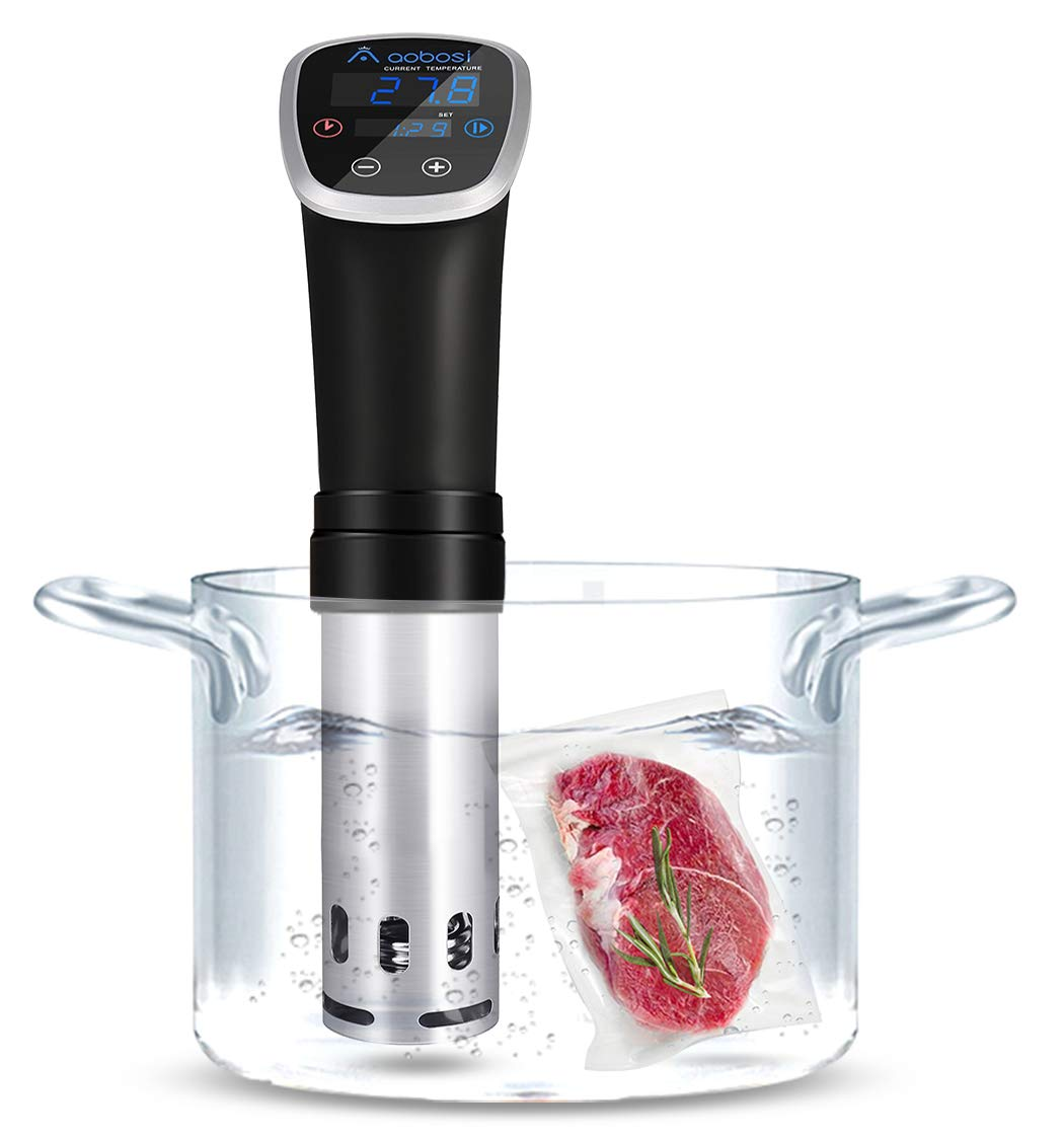 Aobosi Sous Vide Precision Cooker, 800W Thermal Immersion Circulator with Accurate Temperature& Timer Setting,Adjustable Clamp,Enjoy Restaurant-Quality Dishes Stainless Steel