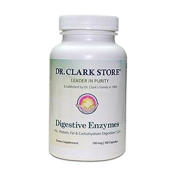 Amazon.com: Dr. Clark las enzimas digestivas Suplemento, 700 ...