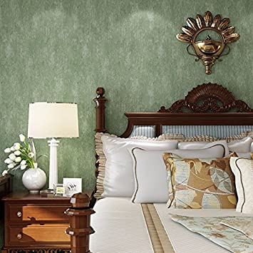 huangyahuiretro Old Tapete Grün Smaragd Farbe Woven Uni Wohnzimmer ...