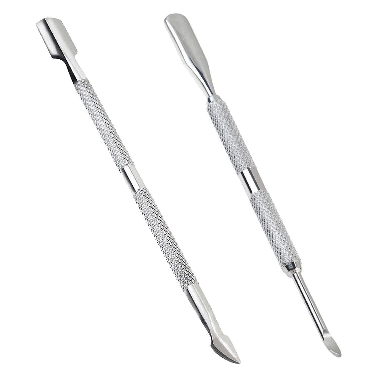 Premium Quality Manicure Pedicure Set Kit With 2 Stainless Steel Cuticle Pusher Scraper Cutter By VAGA®