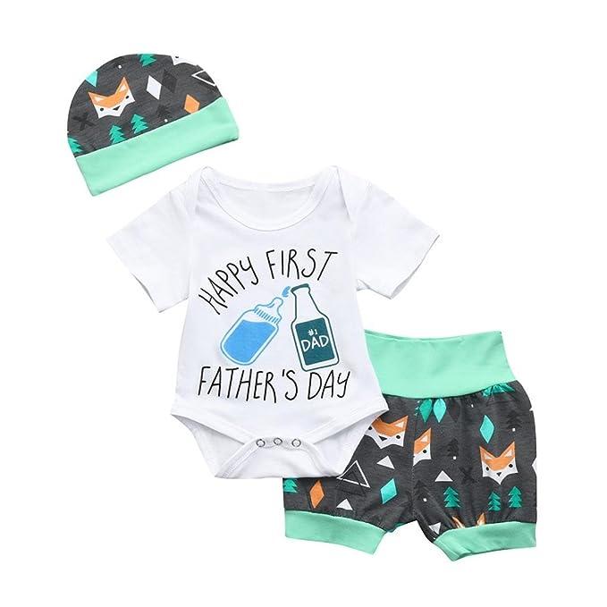 Amazon.com: efaster bebé niñas niños día del padre letra ...