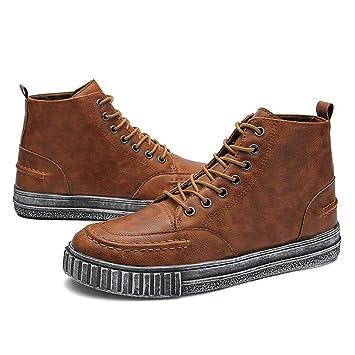 FEIFEI Hommes Chaussures Printemps Et Automne Loisirs Plaque De Mode Chaussures 2 Couleurs (Couleur : Blanc, taille : EU43/UK9/CN44)