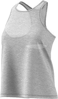 adidas Women's Performance Open Back Tank Top Medium Grey Heather/Black X-Large CF8314-035-XL