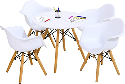 Costzon Kids Mid-Century Modern Style Table Set