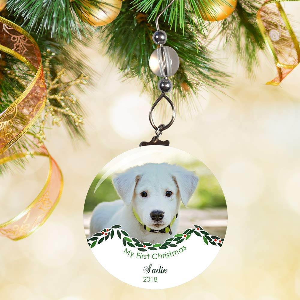 Dogs First Christmas Ornament.Dogs First Christmas Ornament Puppys First Christmas Ornament