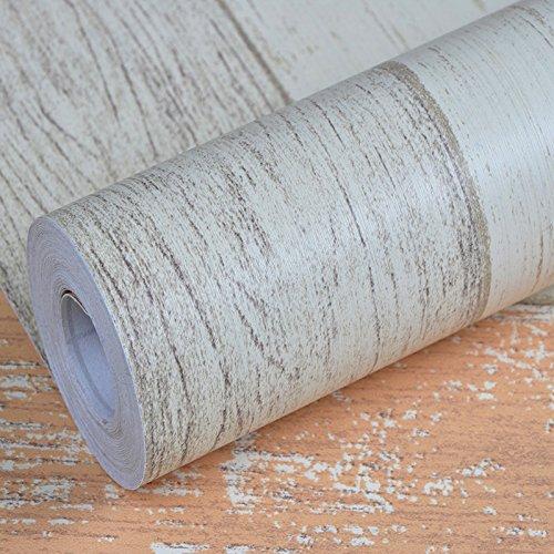 Jedfild Mobiliario renovado film autoadhesivo Papel pintado tapiz Papel pintado tapiz armario archivador reservar una mesa antigua puerta de madera, ...
