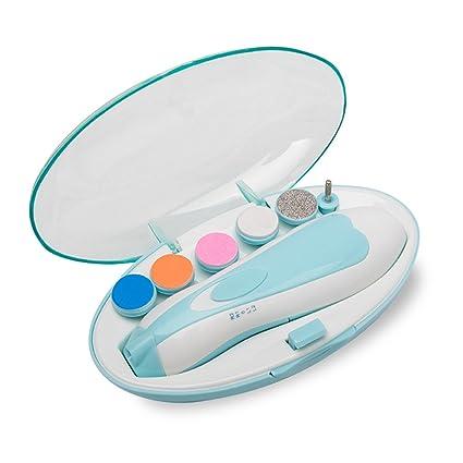 Baby Nail File, Safe Nail Clippers para recién nacidos o niños pequeños dedos y uñas, Electric Pro Nail recortador polaco y Trim Kit (Azul) (Azul)
