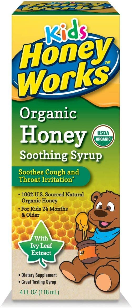 Honey Works Kids Honey Soothing Syrup, 4 Ounce