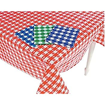 (4) Plastic Checkered Tablecloths   4 Pc  Gingham Picnic Table Covers