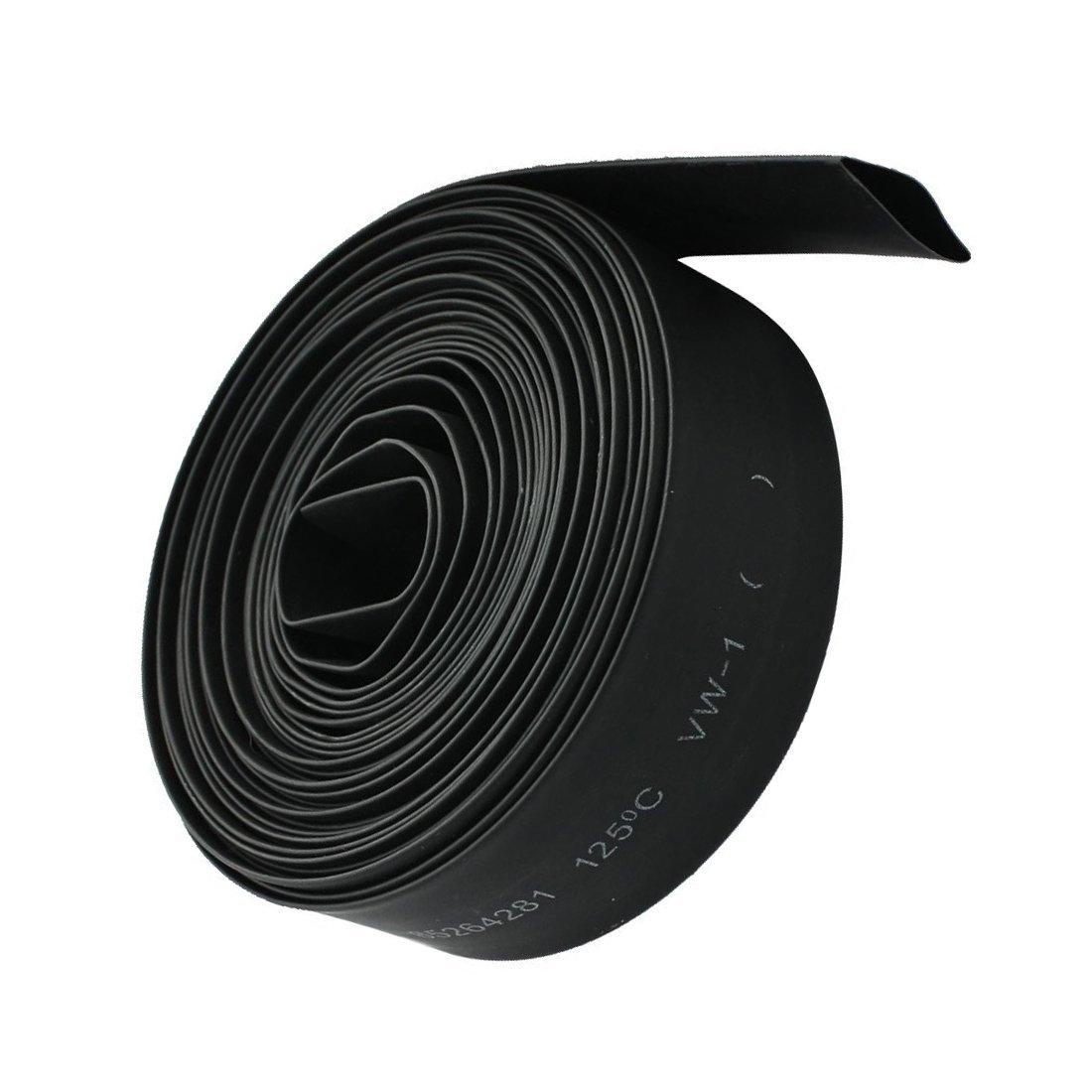 Tuberia del encogimiento del calor 2mm 2:1 Negra tuberia del encogimiento de aislamiento termico de poliolefina de 6M R SODIAL