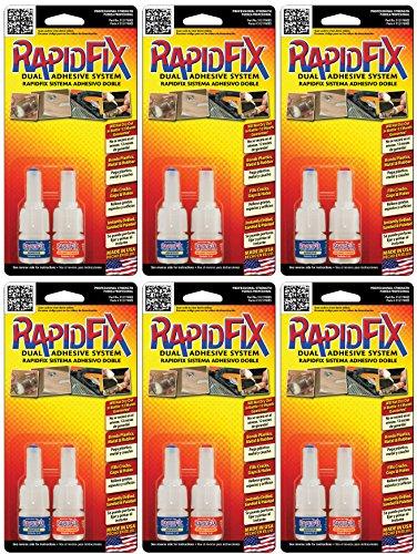 RapidFix Dual Adhesive System Multi-Pack, 6-Pack, 5 ml.Size -