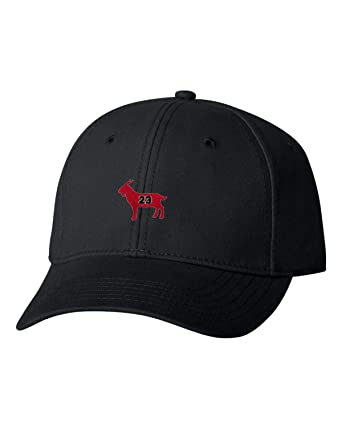 c74211fe1a9 Adjustable Black Adult G.O.A.T. Jordan #23 Goat Greatest of All Time  Embroidered Dad Hat Structured