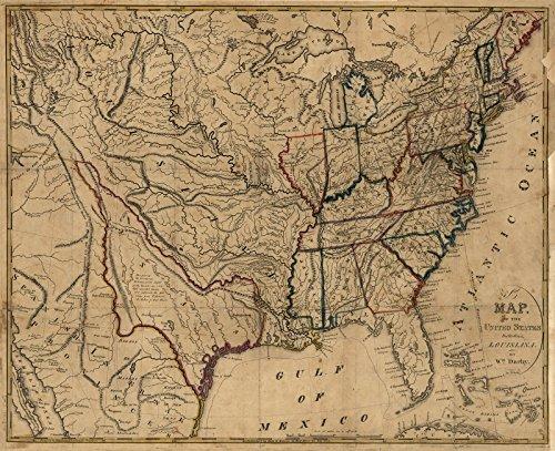 Map Of Louisiana Amazoncom - Us louisiana map