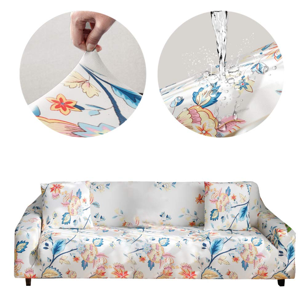 Bikuer Printed Sofa Cover XL XLarge Stretch Couch Cover Water Repellant Sofa Slipcovers for 4 Seater Cushion Couch Arm Chair Furniture Cover 4 Seats by Bikuer