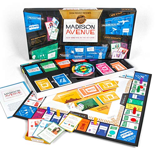 (Madison Avenue Board Game - Family Fun, Family Board Game. IF You Loved MAD Men TV Show You'll Love This Board Game. Fun for Couples, Kids 13 Plus, Advertising Game, Business Board Game)