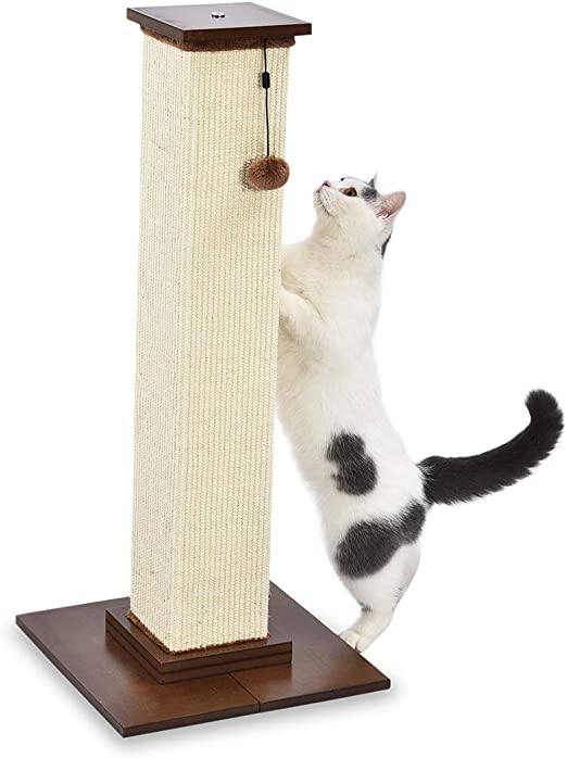 AmazonBasics - Poste rascador para gatos de primera calidad, alto y grande, 40,6x88,9x40,6 cm, madera: Amazon.es: Productos para mascotas