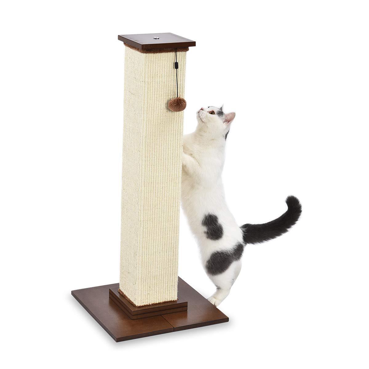 AmazonBasics Large Premium Tall Cat Scratching Post - 16 x 35 x 16 Inches, Wood by AmazonBasics