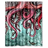 "Generic Custom Unique Octopus Abstract Art Waterproof Shower Curtain Bathroom Fabric 60"" x 72"",about 152cm x 183cm"