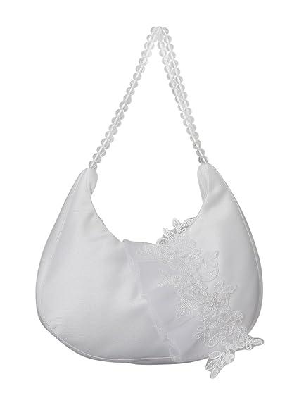 Sac à Main Cérémonie Mariage Soirée Tout en Perle - Blanc - Taille Unique WdOzx