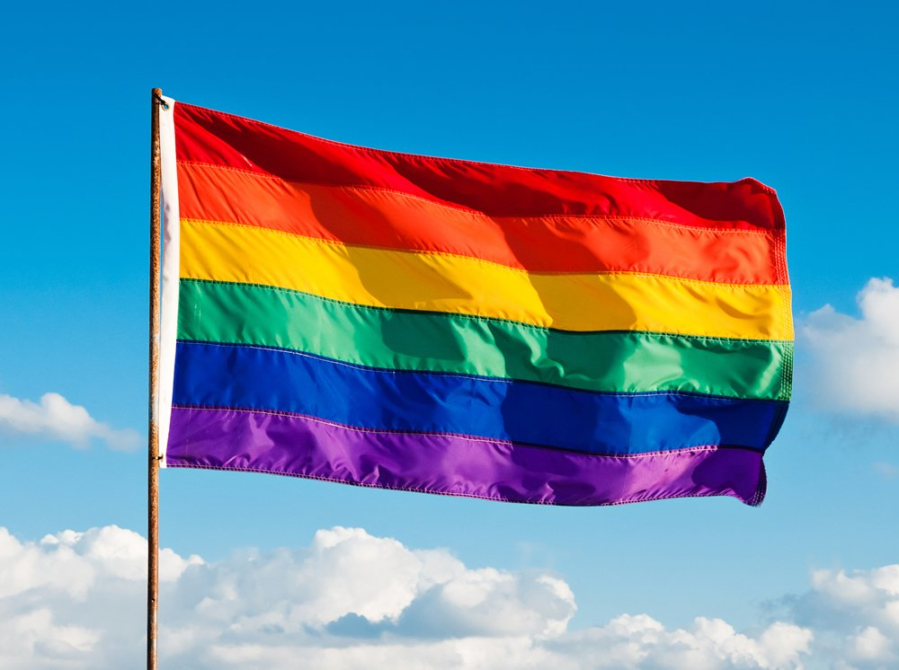 6x10ft Gay Pride Flag / Rainbow flag - 100% made in USA - featuring individually sewn stripes, rich color and superior fade & fray resistance by Federal Flags