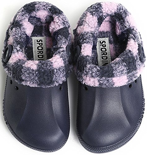 SPORDINO Little Boys' Synthetic Rubber/Polyester Clogs and Mules Shoes W8 M7 B(M) US Navy by SPORDINO (Image #2)