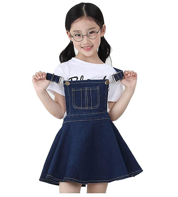 731e714193 Amazon.com  Kidscool Girls Big Bibs Adjustable Straps Denim Overall ...