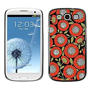 FECELL CITY // Duro Aluminio Pegatina PC Caso decorativo Funda Carcasa de Protección para Samsung Galaxy S3 I9300 // Pattern Fabric Orange Black