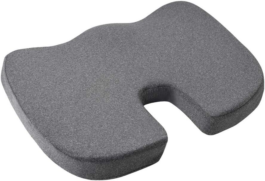 AmazonBasics Memory Foam Seat Cushion - Gray, U-Shape