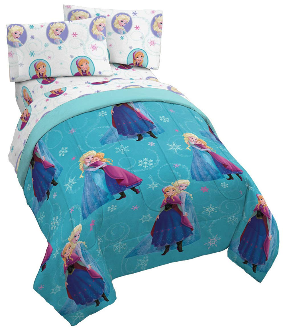Disney Frozen Swirl 5 Piece Full Bed Set