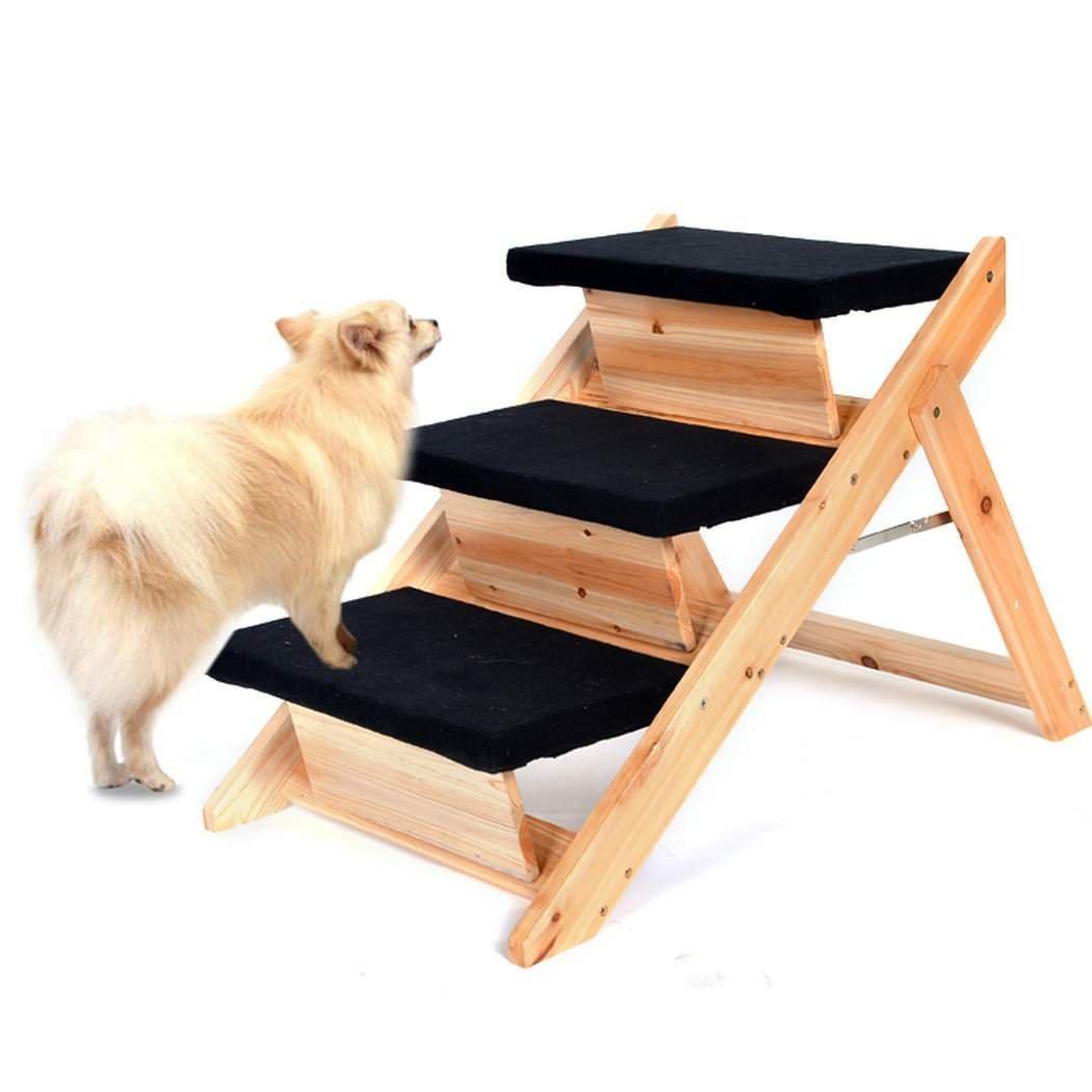 OOS TopYart Pet Stairs Ramp Portable Folding 2-in-1 Wooden Pet Ramp & Stairs Dog