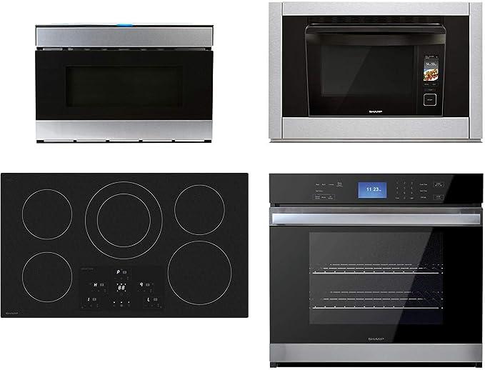 Amazon.com: Sharp paquete de cocina de 4 piezas SDH3652DB ...