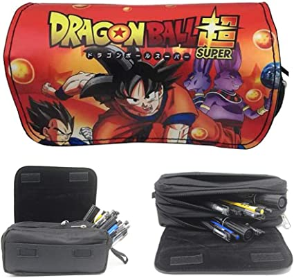 Estuche escolar de Dragon Ball Z, bonito estuche escolar para niños con dragón Ball, color a 21 * 7 * 10.5cm: Amazon.es: Oficina y papelería