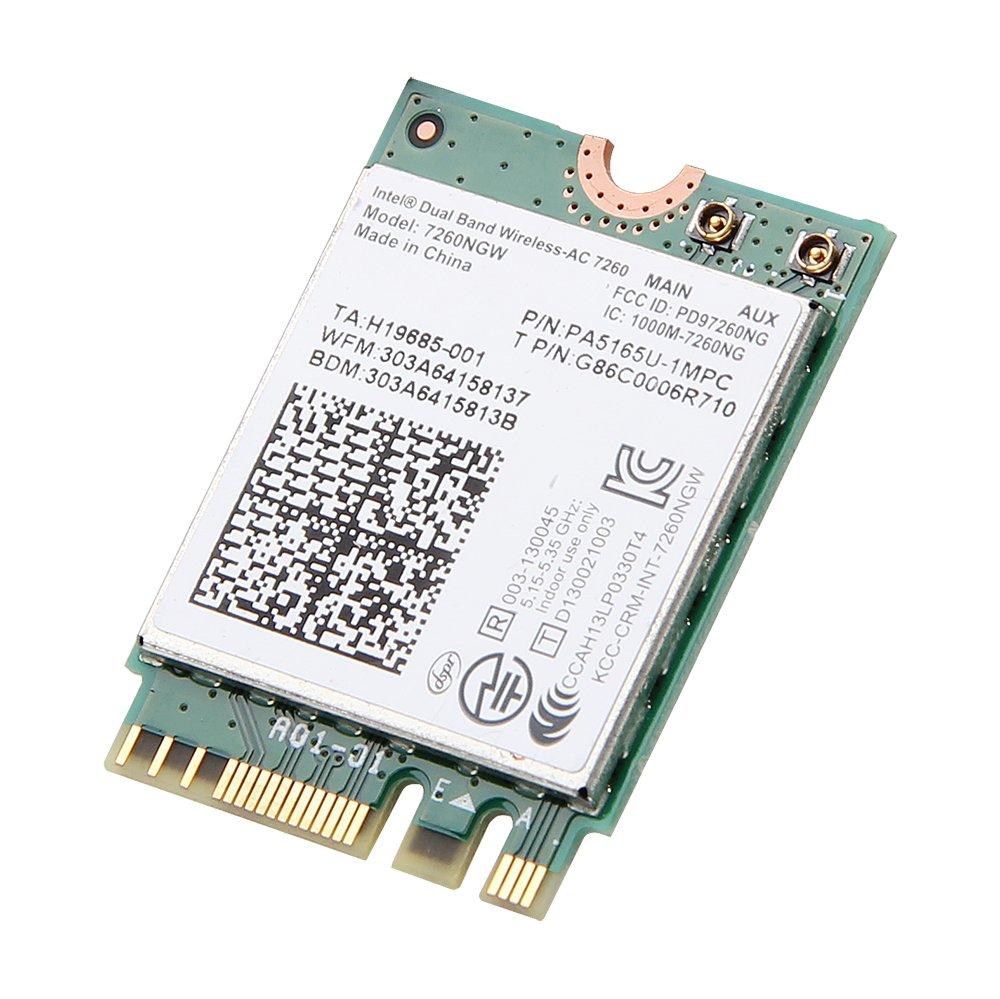 Intel Dual Band Wireless-ac 7260 7260ngw Ngff Pcie Bluetooth Bt Wireless Wifi Card 802.11 Ac a B G N Kttyn for Dell Laptop by Intel