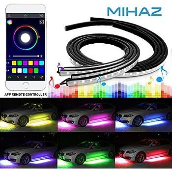 car led strip light wsiiroon 4pcs 48 led multicolor music car interior lights under. Black Bedroom Furniture Sets. Home Design Ideas