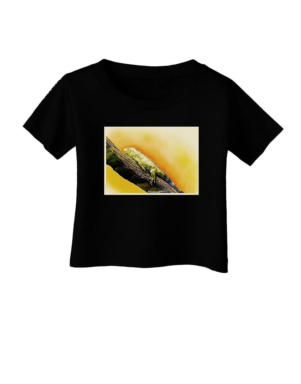 TooLoud Iguana Watercolor Infant T-Shirt Dark