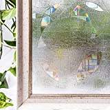 Window Film 3D Ecology Non Toxic Static Decoration For UV Rejection Heat Control Energy Saving Privacy Glass Stickers,35.4x78.7 Inches
