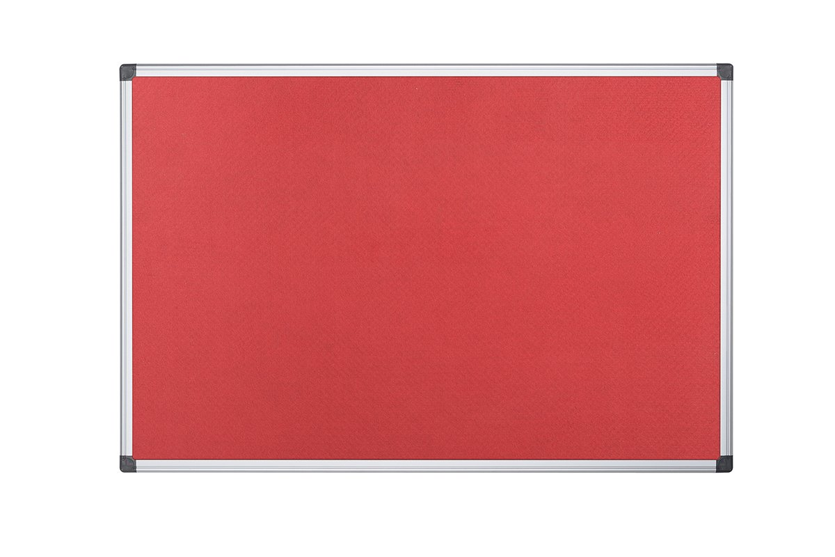 BoardsPlus Tablero de An/úncios de Fieltro Azul Con Marco de Aluminio