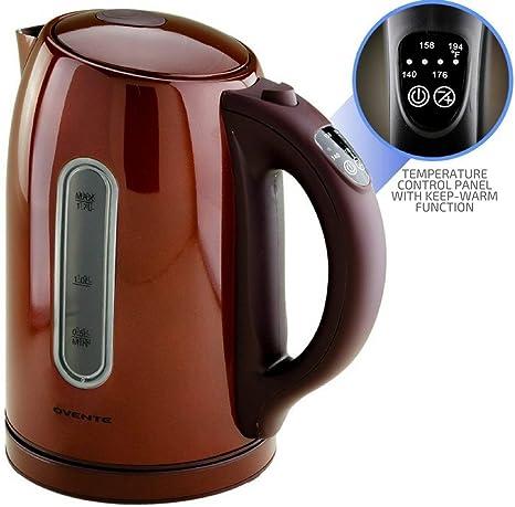 Amazon.com: Ovente KS88 - Hervidor eléctrico sin BPA (1,7 L ...
